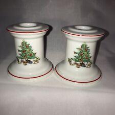 Porcelain Xmas Tree Shibata Candle Stick Holders