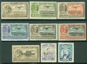 EDW1949SELL : MEXICO 1918-32 Sc #C13, 40-44, 46 Also B1-2 VF, Mint OG Cat