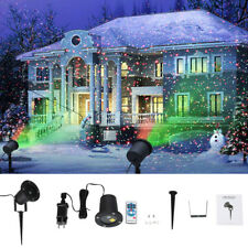 Moving LED Landscape Laser Projector Red & Green Garden Outdoor Light Christmas