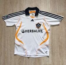 VINTAGE ADIDAS GIRLS LOS ANGELES GALAXY SOCCER JERSEY TEAM SIZE MEDIUM