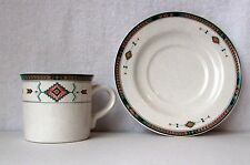 Studio Nova Adirondack Cup and Saucer Southwestern Pattern -- pre-owned Y2201