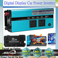 1500w/3000watt Peak 12V DC to 110V AC car truck power inverter converter Digital