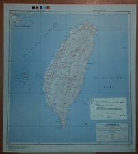1945 US Army Special Strategic Map Formosa AMS China Taiwan WW 2