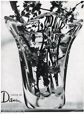 PUBLICITE ADVERTISING 105  1956  CRISTAL DAUM   vase