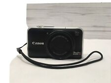Canon Powershot SX230HS 12.1MP Digital Camera Black PC1587  For Parts Not Tested