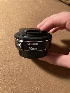Canon EF 40mm F/2.8 STM EF Pancake Lens