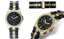 NEW Geneva Platinum 2397 Womens Ticino Ladies Girls Black/Gold Classy Cute Watch