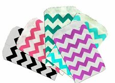 """Mini Chevron 3x5"""" Paper Bags, Goody Favor Colored Party, Pink, Purple, Blue Bags"""