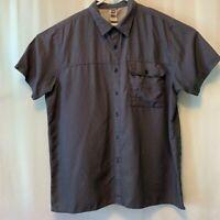 The North Face Men's 2XL Camp Shirt Short Sleeve Button Blue Plaid