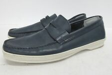SANDRO MOSCOLONI Simon Penny Loafer in Blue Men's Size: 10
