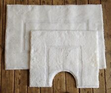 2 piezas de este conjunto estera y Ped Mat en Blanco 100% extrasuave Acrílico (ANTIDESLIZANTE)