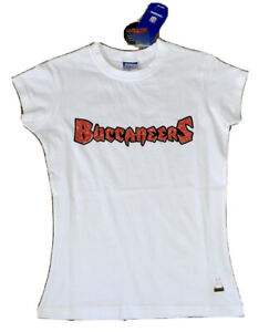 TAMPA BAY BUCCANEERS WOMENS CAP SLEEVE FITTED T SHIRT MEDIUM MED M BUCS NFL TOP