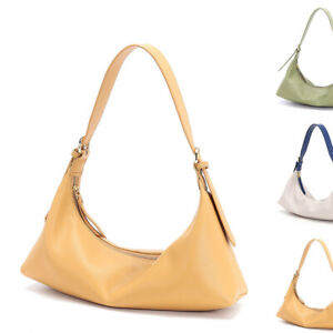 Real Leather Small Mini Shoulder Bag Baguette Purse Hobo Adjustable Crossbody
