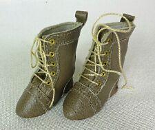 DOLL CLOTHES Vintage Scarpe Tiny 30mm tutte le scarpe di pelle per Bambola Antico