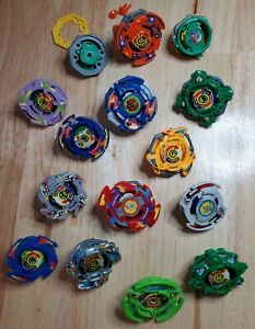 Vintage Takara Tomy (14) Beyblade Lot Launchers, Bit Chips, Ripcords, Extras