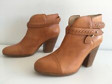 Rag & Bone Harrow Belted Leather Woven Ankle Boot. Size 40