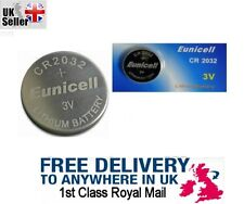 Eunicell 3V CR2032 DL BR KL Lithium Button Cell battery, Car Key Fob Remote UK