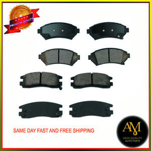 OEM Quality Full Set Front & Rear Brake Pads Fits Chevrolet, Buick, Cadillac