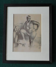 Antique 19th Century Albumen Photo of a Large African Woman in Tribal Beads