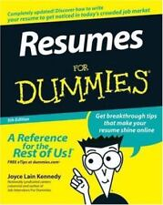 NEW COPY Resumes for Dummies BOOK by Joyce Lain Kennedy