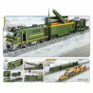 RC LED Military Missile Loading Train 1174 Pcs Building Blocks Toy Gift Kid