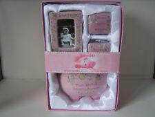 Baby-Set, Sparschwein, Fotorahmen, 2 Döschen, Geschenk zur Taufe, Geburt, Baby,