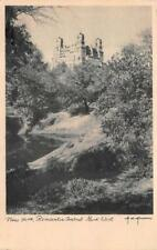 NEW YORK ROMANTIC CENTRAL PARK WEST ANNAU ARTIST SIGNED POSTCARD (c. 1930s)