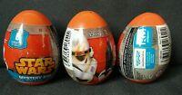 x3 Star Wars Mystery Egg Toy Keychain Figurine Tattoo Stickers TPF Toys GERMANY