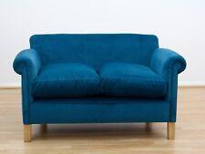 Camford Petite Sofa, Colour Teal Velvet, Light Legs
