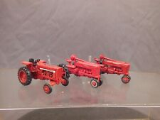 Ho Scale 3 Red Tractors Farmall & International