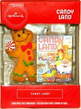 2019 Hallmark Candy Land Gingerbread Man Hasbro Kid Board Game Red Box Xmas Tree