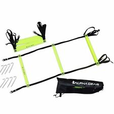 AGILITY LADDER - TWIN PACK - 2 x 2 Metre Ladder with Grass Spikes