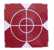 Reflex Zielmarken 60mm x 60mm,  Rot, 10 Stück, Total Station