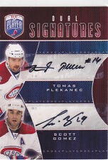 2009 09-10 Be A Player Signatures Duals #S2GP Scott Gomez/Tomas Plekanec AUTO