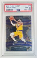 2019 Panini Select #47 LeBron James PSA 10 GEM MINT LA Lakers Basketball Card
