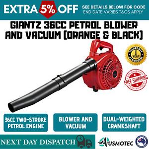 NEW Leaf Blower Vacuum 36cc Petrol Garden Outdoor Yard Hand Vac 2-stroke Fuel AU