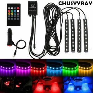 Luces LED Para Autos Carro Coche Interior De Colores Decorativas accesorios luz