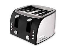Ogf Og8166 4-Slice Multi-Function Toaster with Adjustable Slot Width, Black/Stai