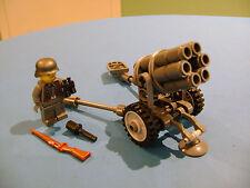LEGO LOT #47 CUSTOM WW2 WORLD WAR 2 GERMAN DARK GRAY NEBELWERFER 41 MINIFIGURE