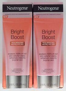 Set of 2 Neutrogena Bright Boost Resurfacing Micro Polishes - 2.6 FL OZ - FS!