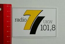 ADESIVI/Sticker: radio 7 VHF 101,8 (26081634)