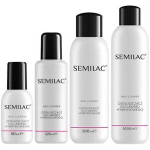 Semilac Nail Cleaner Hybrid Manicure UV Gel Polish Soak Off 50ml 125ml 500ml