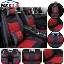 100 % PU Leather Car 5 Seats Covers 9 Pieces Front & Rear Acura 53 Bk/Gray Seat Covers