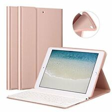 New iPad 9.7 Keyboard Case 2017/2018 Leather Cover Wireless Bluetooth -Rose Gold