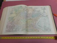 100% ORIGINAL LARGE EDINBURGH   MAP BY G BACON C1901 RAILWAYS