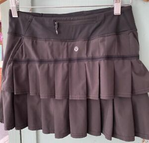 Lululemon Run: Pace Setter Skirt skort Black 4 free shipping