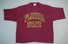 "FLORIDA STATE ~ #1 ~ SEMINOLES ~ Vintage "" Cut off "" Sweatshirt ~ FSU ~ Size XL"