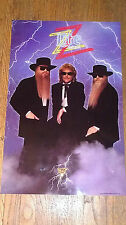 "Zz Top -1990 Miller Lite-""Recycler"" tour- Promotional Poster- 18""X28"" Iv"