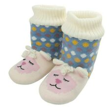 Aroma Home lamb Knitted Slipper Booties - Fit up to UK Size 7 'Fun for Feet'