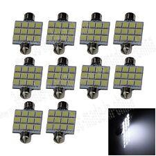 10X White 41MM 12 5050 Festoon Dome Map Interior LED Light Lamp Roof Bulb I303